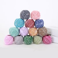ткани подарки оптовых-60M/Roll Colorful Natural Rope DIY Hang Tag Jute Cords Wedding Party Home Fabric Woven Decorative Gift Packing String 2MM