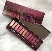 nouvelle palette d'ombres à paupières 12 couleurs chaude achat en gros de-Maquillage chaud 2018 Palette 12 couleurs Palette de fard à paupières Palette de fard à joues Cerise NU!