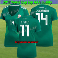 Wholesale ladies army shirt - Women 2018 Mexico Soccer Jersey Home 17 18 Green CHICHARITO Camisetas de futbol 14 Hernandez 11 G DOS Jerseys SANTOS football shirts Ladies