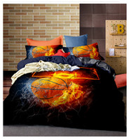 Wholesale Home Decor D Print Basketball Duvet Cover Pillowcase Polyester Bedding Set King Size Bedroom Furniture