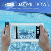 Wholesale plastic swim - Universal Dry Bag IPX8 Waterproof Floating Airbag case bag PVC Protective Phone Bags Pouch For Diving Swimming iphone X 7 8 6 plus S8 S9 DHL