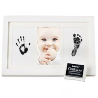 Wholesale Household Pictures - Born Novelty Gift Carriage Photo Frame Household Decor Kids DIY Imprint Handprint Footprint Photo Picture Pictures Frame Kids
