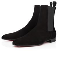 ingrosso eleganti scarpe casual per gli uomini-Fashion Elegant Business Designer Uomo Stivali in pelle cavaliere neri alti stivali inferiori rossi, stivaletti piatti scarpe casual
