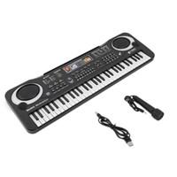 musikalische elektronik großhandel-Multifunktionale 61 Tasten Digitale Elektronische Tastatur Klavier Musical Spielzeug Geschenke Mic Records für Kinder Kinder Anfänger Bildung