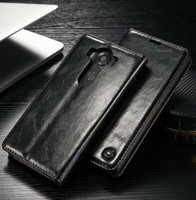 estuche billetera al por mayor-CaseMe Flip Case para LG V10 V20 G4 G5 G6 Magnet Funda de cuero Luxury Wallet Tarjetero Bags Back Cover Book Stand Case