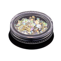 diamants acryliques achat en gros de-2 Boîte 3D Bijoux Ongles Coloré Mixte Acrylique Astuce Diamant Plat Jewel Pierre Ongles Strass Manucure DIY Art Décoration (Bi
