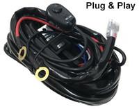 комплект релейной проводки оптовых-Провод реле жгут проводов комплект с переключателем / жгут проводов ткацкий станок комплект с предохранителем реле для OffRoad LED вождения Свет работы 12 В 24 в