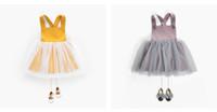 bebek kızı etek toptan satış-Jacobs Kemer ile Bebek Kemer Etekler Tulum Düğmeleri Sarı Lotus Renk İlkbahar Yaz Sonbahar Prenses Elbiseler Toddler Kız Giyim