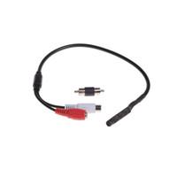 cctv biri toptan satış-Gözetim RCA CCTV Mic Mikrofon Ses Monitör CCTV Ses Kamera mini mikrofon, Bire iki güç kablosu ücretsiz