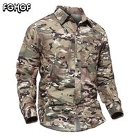 Wholesale multicam tactical shirt resale online - FGHGF Detachable Camouflage Tactical Shirt Men Long Sleeve Pockets Multicam Shirts Male Quick Dry Paintball Army Shirts