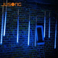 ingrosso tubo di fiabe luci-JUSONG Led 30CM 50CM Meteor Shower Rain Tube SMD Albero di Natale Ghirlanda Navidad Decorative Xmas Outdoor Fairy Lights String