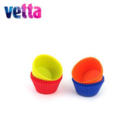"Wholesale ceramic form - VETTA Set 16pcs silicone forms, 6.5x3.3sm, ""Cupcake"", 4 colors VETTA tableware, pan pan baking,confectionary equipment 891-025"
