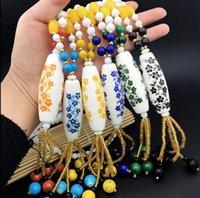 accessoires d'hiver coréen achat en gros de-Vent national et porcelaine bleue et blanche, chaîne de chandail, accessoires, vêtements, pendentifs, collier coréen, automne et hiver, chaîne de chandail