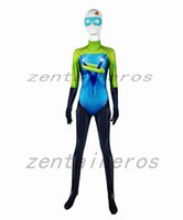 Wholesale superheroes woman costume for sale - Voyd Dye sub Cosplay costume Women Superhero Bodysuit D Printting Lycra Spandex Zentai Halloween Party suit
