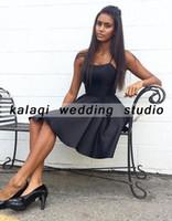 sırtsız siyah kokteyl elbiseleri toptan satış-Siyah Kokteyl elbise 2018 Kapalı Omuz backless kısa Parti balo elbise kadınlar için güzel Lüks elbise
