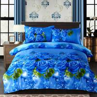 Wholesale egyptian cotton bedding sets purple - White blue twin full Queen King Size Bedding Sets Egyptian Cotton Bedlinens Duvet Cover Flat Sheet Pillow Cases