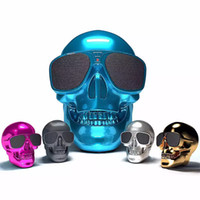 bluetooth speaker skull 2021 - Top Quality Skulls Speakers Bluetooth Wireless Speakers Plating Ghosthead Bone Bluetooth Mega Bass Stereo Spoofs with Retail Package