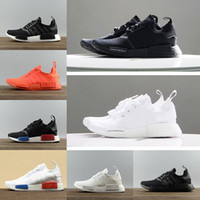Wholesale Orange Color Art - Wholesale 2018 R1 Mens Womens Running Shoes Japan Triple Black white Red OG Tri-Color Grey Sports Casual outdoor Sneakers size eur 36-45