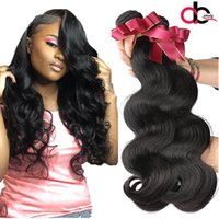 Wholesale Nature Hair Weave - 9A Brazilian Body Wave Hair Bundles Unprocessed Mink Brazillian Peruvian Indian Malaysian Body Wave Remy Human Hair Extensions Nature Color