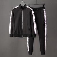 Wholesale Designer Long Coats Men - 2018 brand designer clothing men suits coats medusa printed shark hoodies suits sweatshirt slim fit tracksuits for men