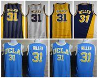 Wholesale 31 shirt - Best Quality 31 Reggie Miller Jersey Mens Black White Yellow Stitched Reggie Miller Basketball Jerseys College Stitched Shirts