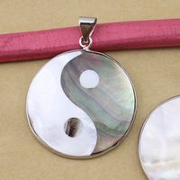 Wholesale diy shell necklace for sale - Group buy 1PC Chinese Yin yang symbol Shell Pendant Necklace For Jewelry Making Findings Diy Necklace Fashion Charms Accessories F1132