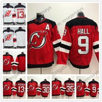 Wholesale Kids Blanks - New Jersey Devils #13 Nico Hischier 9 Taylor Hall 30 Martin Brodeur 35 Schneider Blank Red White Mens Womens Youth Kids 2018 Hockey