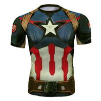 kapitän amerika strumpfhosen großhandel-Schnell trocknende Kleidung für Männer und Frauen Cosplay Der unglaubliche Hulk Captain America Iron Man Das Avengers Tights T-Shirt