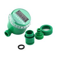 controlador automático de agua al por mayor-Temporizador de agua para el hogar Controlador de riego para jardín Temporizador de control de rociadores electrónicos Válvula de solenoide electrónico automático Riego