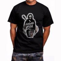 siyah şeker toptan satış-Yeni Sixto Rodriguez Şeker Kısa Kollu erkek Siyah T-shirt Boyutu S 3xl erkekler Yüksek Kalite Özel Baskılı Hipster Tees Tops