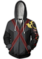 Wholesale sora cosplay for sale - Kingdom Sora Heart Roxas black hero Jacket Top Coat Adult D Printed Cosplay Costume zelda coat hoodie sports jacket
