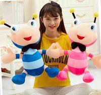 happy birthday cute girl 2018 - candice guo! Super cute plush toy lovely happy couple tie ant stuffed doll decoration girls kids birthday Christmas gift 1pc