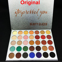 Wholesale professional beauty palette for sale - Group buy Beauty Glazed Colors Eyeshadow Palette Impressed You eye shadow Makeup matte shimmer eyeshadow palette Professional Brand Cosmetics