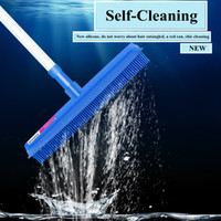 Wholesale hair grooming products for sale - Pet Rubber Broom with Squeegee Handhold Multi Surface Hair Lint Removal Device Telescopic Bristles Super Cleaner Tool Dog Grooming AAA1210