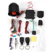 fernbedienung alarm sirene großhandel-NEUE Heiße sale1-Way Auto Alarm Fahrzeugsystem Schutz Sicherheitssystem Keyless Entry Sirene + 2 Fernbedienung Einbrecher