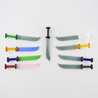 geri dönüşüm cihazı eki toptan satış-Kalça Cam Dabber Bıçak Şekli Sigara Dabs Mix Renkler 4.5''inch Yaratıcı Kalın Yağ Wax Dab Araçları Şık Yüksek Kaliteli Sigara Aksesuarları