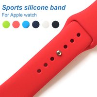 Wholesale yellow silicone watch strap - Sports silicone Band For Apple watch Series 3   2 Replace Bracelet Strap watchband Watchstrap for apple watch 42mm 38mm