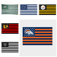 Wholesale fly banners - Rugby Club Banner Flag 90*150cm 3x5 FT Polyester Flying Flag Striped Rugby Flags 7 Styles OOA4876