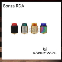 vida sıkıştırma toptan satış-Vandy Vape Bonza RDA 24mm Tek veya Çift Bobin Sabit Vida Kelepçe Sonrası Squonk ve 510 PIN Vaping Bogan tarafından Tasarlanan 100% Orijinal