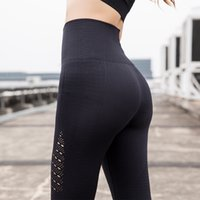 Wholesale yoga pants for women online - Tighten High Waist Yoga Outfits Hollow Sports Running Elastic Pants Casual Energy Seamless Tummy Control Gym Pant For Women za jj