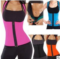 Wholesale Womens Training Top - Sexy Womens Neoprene Body Shapers Workout Waist Trainer Vest Full Support Sport Gym Fitness Slimming Waist Training Corset