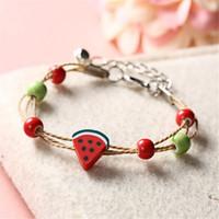 sevgililer kuyumculuk toptan satış-Güzel Meyve Şekilli Bilezik Moda Sweethearts Bilezik Bileklik Halat Zincir Takı Düğün Parti Kızlar Için Sıcak Hediye