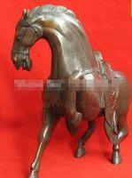 estatuas antiguas de caballos de bronce al por mayor-Antiguas asiáticas antigüedades bronce estatua caballo