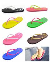Wholesale hotel cool - Love Pink Slippers Flip-Flops Summer Beach Sandals Rubber Antiskid Slipper Casual Cool Fashion Footwear 7 Colors DDA421