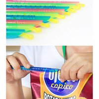Wholesale great rod - Magic Bag Sealer Bag Clips Sticks Rods Resealable Great For Kitchen Food Storage Fresh Food Sealed Organizer FFA591