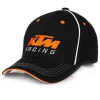 şapka moto toptan satış-Sıcak KTM Satış Moto GP Mektupları Yarış Beyzbol Kapaklar Motocross Sürme Şapkalar Için Mens Snapback Kapaklar Hip Hop Güneş Şapka