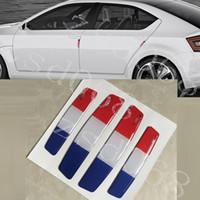fenêtre drapeau pour la voiture achat en gros de-10set / lot Car Styling Drapeau de la France Porte de voiture autocollant de protection Crystal barre anti-collision porte anti-rayures barre anti-collision autocollant