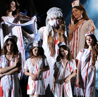 Wholesale vampire bride costume for sale - 2018 Latest Halloween Horror Bloody Doctor Vampire Female Nurse Zombie Costume Ghost Bride Cos Ghost Festival Ball Play