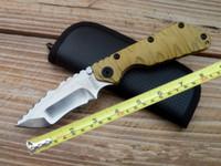 hervorragende qualität falten messer großhandel-Hochwertiges TC4 Titan Edc Klappmesser Tanto Klinge ausgezeichnete gezackte taktische Messer.