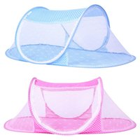 Wholesale mesh crib - 2017 Summer Portable Baby Mosquito Insect Cradle Net Folding Baby Bed Crib Mosquito Net Infant Bedding Mesh Crib Netting